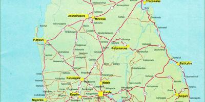 Sri Lanka Ceylon Kart Kart Sri Lanka Ceylon Sor Asia Asia